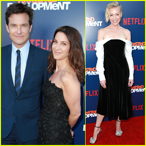 Jason Bateman & Portia de Rossi Step Out for 'Arrested Development' Season 5 Premiere