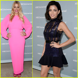 Jenna Dewan & Busy Philipps Step Out For NBC Upfronts 2018!