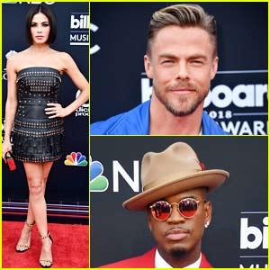 World of Dance's Jenna Dewan, Ne-Yo, & Derek Hough Walk the Billboard Music Awards 2018 Red Carpet!
