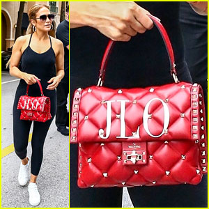 Jennifer Lopez Carries Personalized Valentino Bag to the Gym!