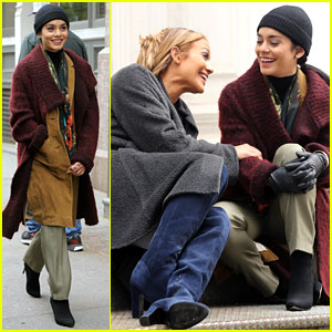 Jennifer Lopez Calls Vanessa Hudgens a Love Bug on 'Second Act' Set