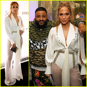 Jennifer Lopez Celebrates 'Dinero' Release with DJ Khaled & Ashlee Simpson!