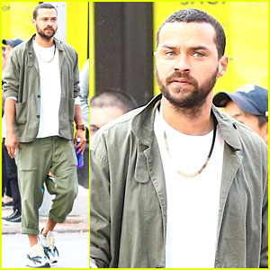 Jesse Williams Goes Casual with Rolled-Up Pants in NYC