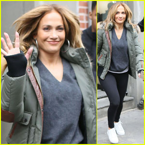 Jennifer Lopez Is All Smiles While Leaving the Set of 'Second Act'!