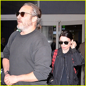 Joaquin Phoenix & Rooney Mara Couple Up at LAX Airport
