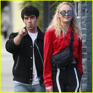 Joe Jonas & Sophie Turner Make a Shopping Stop in LA!