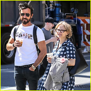 Justin Theroux Grabs a Cab With Longtime BFF Amy Sedaris in NYC!