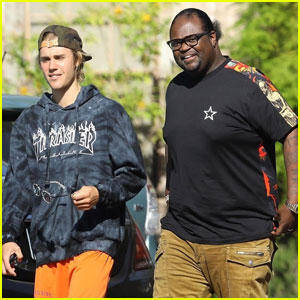Justin Bieber Heads Into The Studio With Producer Poo Bear!