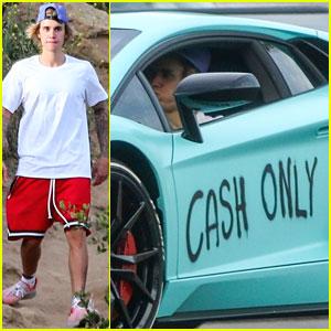 Justin Bieber's Lamborghini Gets Graffiti Artwork