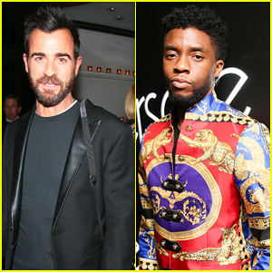 Justin Theroux & Chadwick Boseman Keep It Cool at Versace Met Gala 2018 After Party!