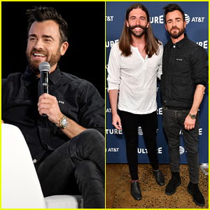 Justin Theroux Shows Off His Back Tattoo at Vulture Festival 2018 - Watch Here!