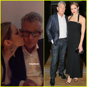 Katharine McPhee Kisses David Foster at Versace Met Gala 2018 After Party!