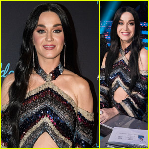 Katy Perry Rocks Long Black Hair on 'American Idol' Top 5 Episode!
