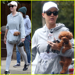Katy Perry Takes Pup Nugget for a Hike!