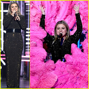 Kelly Clarkson Performs Medley of Other Artists' Hits at BBMAs 2018 (Video)