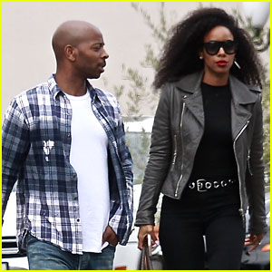 Kelly Rowland & Husband Tim Weatherspoon Run Errands Together