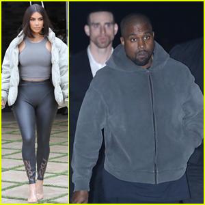 Kim Kardashian & Kanye West Step Out Separately to Start Their Week