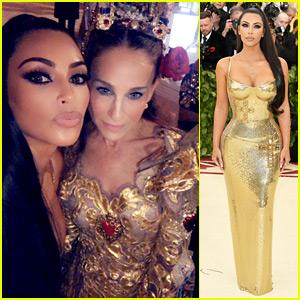 Kim Kardashian Shares Her Photos from Inside Met Gala 2018!