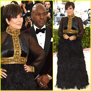 Kris Jenner & Boyfriend Corey Gamble Keep It Regal at Met Gala 2018