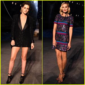 Kristen Stewart & Margot Robbie Sit Front Row at Chanel Show