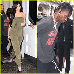 Kylie Jenner & Travis Scott Step Out For Sunday Funday