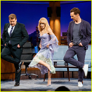 Kylie Minogue Teaches Benedict Cumberbatch & James Corden to Line Dance on 'Late Late Show'!