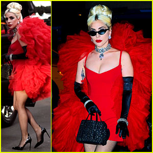Lady Gaga Is Serving a Lewk in This Red Dress!