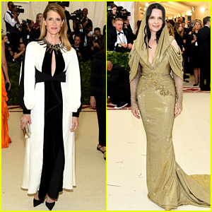 Laura Dern & Juliette Binoche Make Elegant Appearances at Met Gala 2018