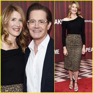 Laura Dern & Kyle MacLachlan Step Out to Promote 'Twin Peaks'