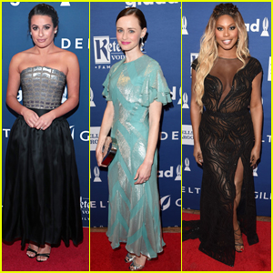 Lea Michele Joins Alexis Bledel & Laverne Cox at GLAAD Media Awards 2018!
