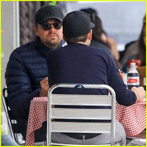 Leonardo DiCaprio & Kevin Connolly Grab a Bite Together
