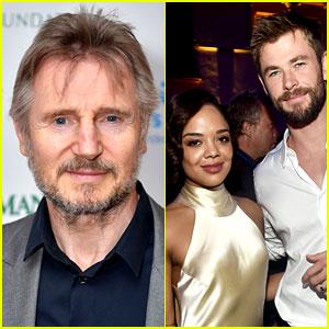 Liam Neeson Joins 'Men in Black' Spinoff with Chris Hemsworth & Tessa Thompson!