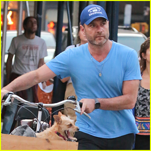 Liev Schreiber Takes His Pup for a Bike Ride in NYC!