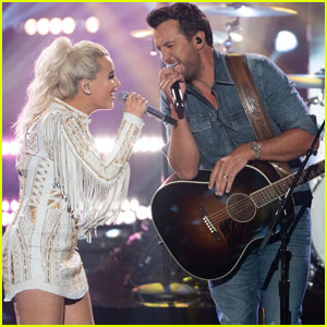 Luke Bryan Performs With 'American Idol' Finalist Gabby Barrett - Watch Now!