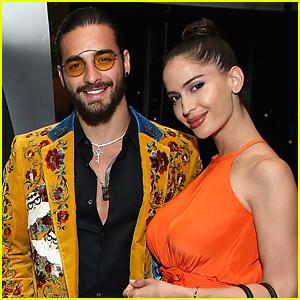 Maluma Celebrates 'Haute Living' Cover with Girlfriend Natalia Barulich in LA!