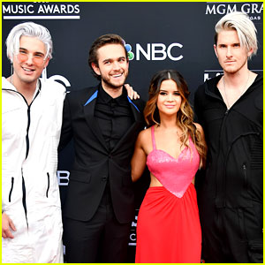 Maren Morris, Zedd, & Grey Walk the Carpet Together at Billboard Music Awards 2018!