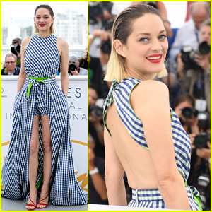 Marion Cotillard Wears Backless Dress for 'Angel Face' Photo Call at Cannes