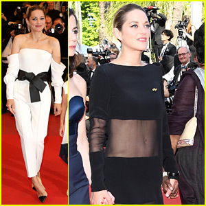 Marion Cotillard Wears Sheer Dress at Cannes Women's March