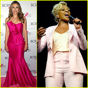 Mary J. Blige & Elizabeth Hurley Dress Up in Pink to Support Breast Cancer Research