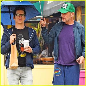 Matt Bomer & Husband Simon Halls Step Out for Rainy Day Stroll