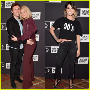 Meghan Trainor & Cassadee Pope Attend ASCAP 'I Create Music' Expo 2018!