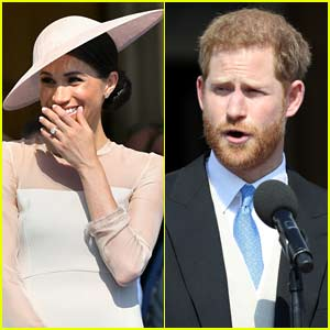 Prince Harry Was Bothered By a Bumblebee During Speech & It Gave Meghan Markle the Giggles!