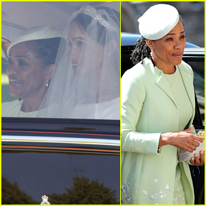 Meghan Markle S Mom Doria Drives With Her To Royal Wedding Doria Ragland Meghan Markle Royal Wedding Just Jared