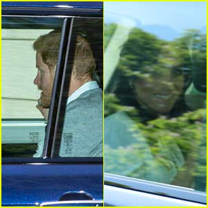 Meghan Markle & Prince Harry Photographed Amid Wedding Rehearsals Heading to Tea with Queen Elizabeth!