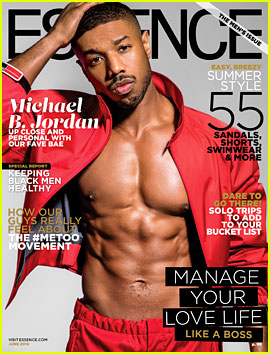 Michael B. Jordan Shows Off Six Pack Abs for 'Essence' Cover