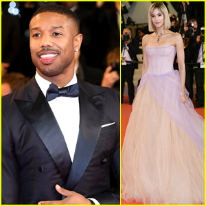 Michael B. Jordan & Sofia Boutella Step Out in Style for 'Fahrenheit 451' Cannes Premiere
