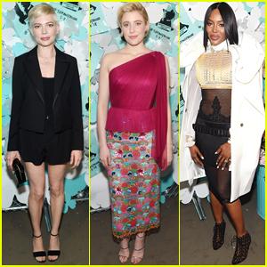 Michelle Williams, Greta Gerwig, & Naomi Campbell Go Glam for Tiffany & Co.