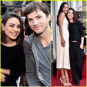 Mila Kunis & Ashton Kutcher Support Zoe Saldana at Walk of Fame Ceremony!