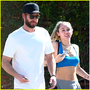 Miley Cyrus & Liam Hemsworth Kick Off Weekend with a Breakfast Date