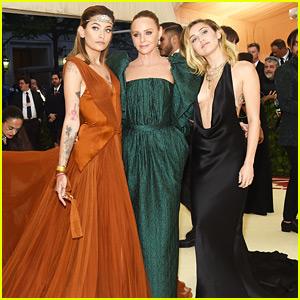 Miley Cyrus & Paris Jackson Coordinate Their Met Gala Style!